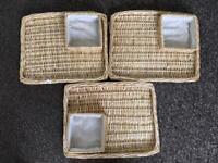 3x Basket trays
