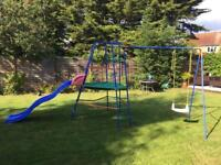 ELC climbing frame slide and swing