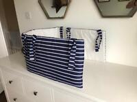 Navy Blue Cot Bumper