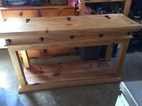 Pine table for hallway