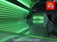 COMERCIAL SUNBED ERGOLINE 800 EXCELLENCE 800 TURBO POWER BREEZE – MIST ,AQUA AUDIO VOICE MP-3 LED