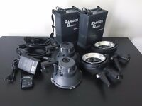Elinchrom Quadra Ranger 2x A-Heads and 2x Quadra Battery Flash System