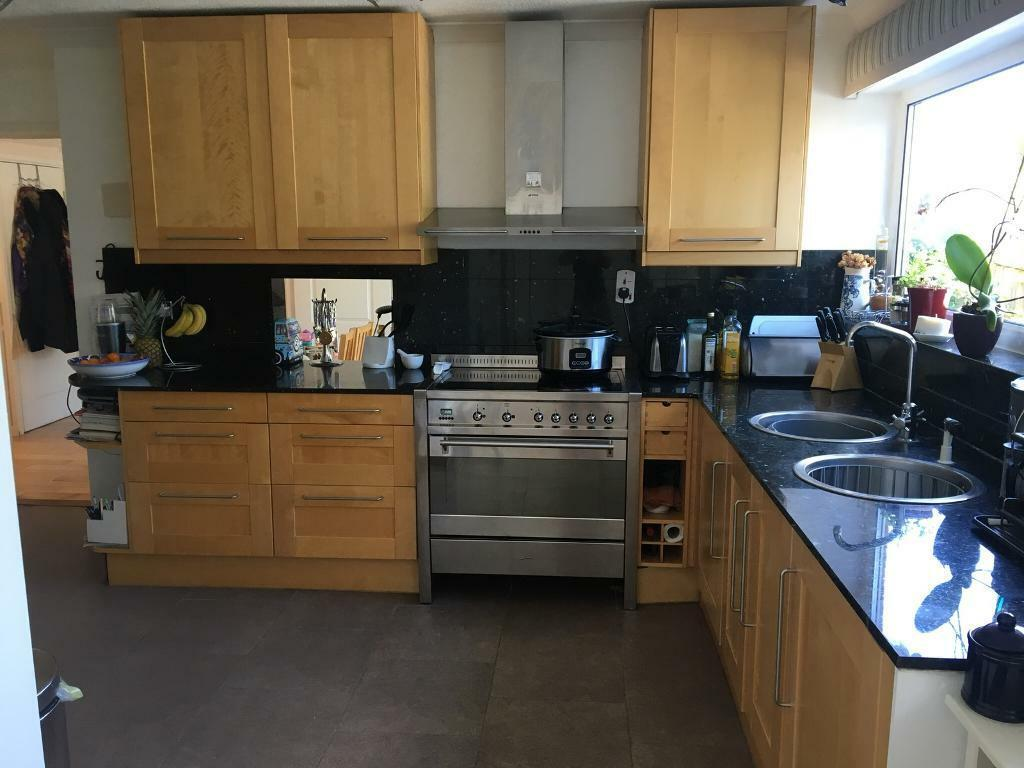 SMEG Large Electric programmable Oven (90cm W) & 5 ring ceramic hob plus SMEG Cooker hood (Swindon)