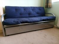 sofa bed and storage drawer