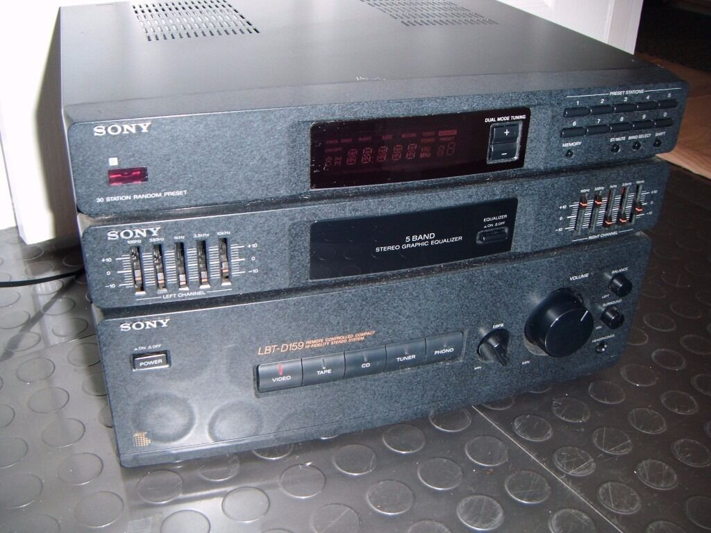 Sony Str D159 Amplifier Fm Tuner With Graphic Equaliser 25 Watts 5 Watt Per Channel