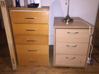 Two Office Drawers - Night Stands, bad condition, For Free