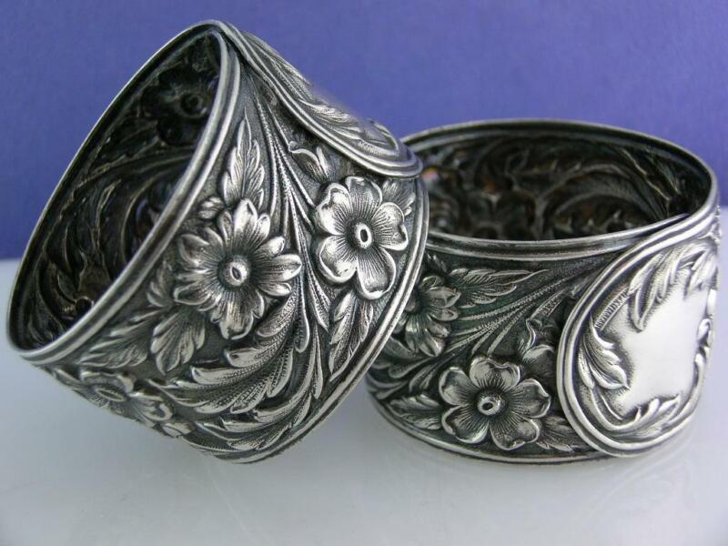 Sterling S KIRK & SON Napkin Ring REPOUSSE no.28 ~no mono ~$195 each