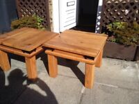 2 Solid Wood Tables