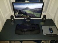 Desktop gaming PC, all peripherals, desk and chair - Full Gaming Set Up!