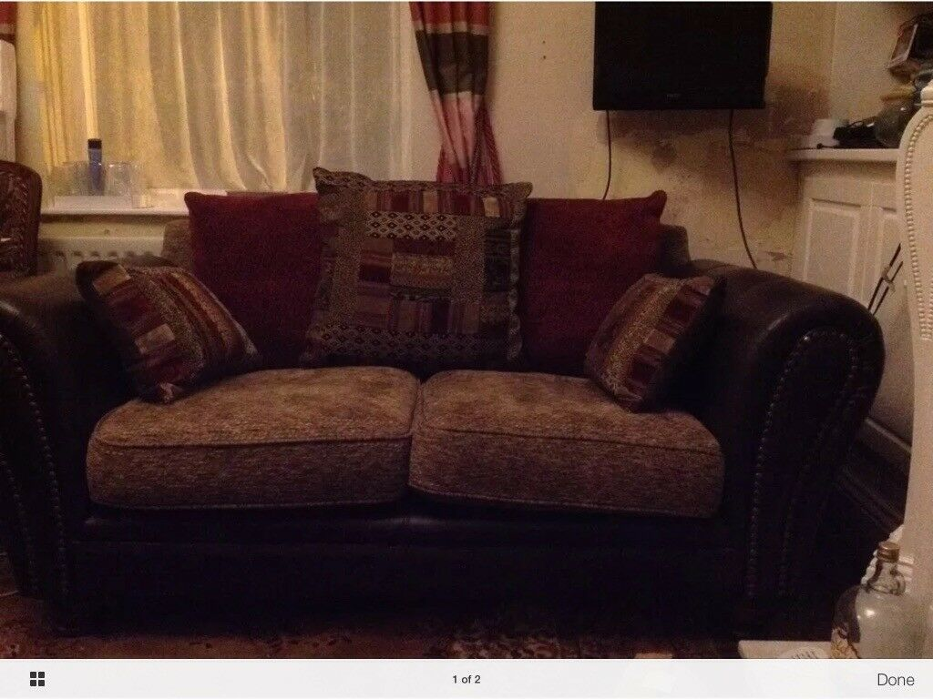 2 Seater Leather Material Sofa Matching Chair In Newcastle Tyne  ~ Matching Sofa And Chairs