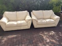 Two leather sofas vgc can deliver