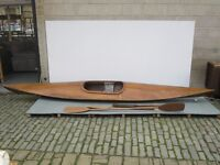 Hand Made Wooden Sailing Canoe