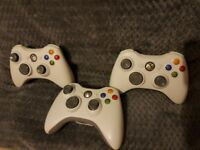 3 xbox 360 controllers good condition £15 for 3