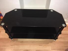 all black gloss tv stand
