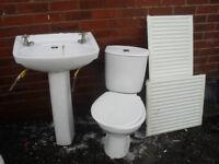 Sink, Toilet, Radiators.