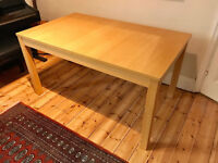 dining table Ikea Bjursta with 2 extensions