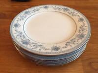 "Noritake Blue Hill 8"" Plates"