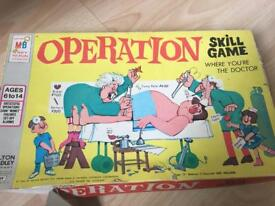 Vintage Operation and kerplunk boxed 1665-1966