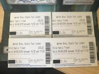 Family ticket to Harry Potter World 26th June