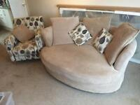 Sfs cuddle sofa and chair
