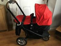 2 in 1 pram with a car seat