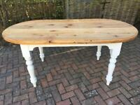 Gorgeous refurbished painted solid pine 6ft table