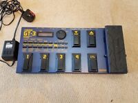 BOSS GT-3 GUITAR MULTI EFFECTS PEDAL PROCESSOR + POWER SUPPLY