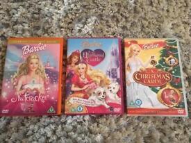 Three Barbie dvds