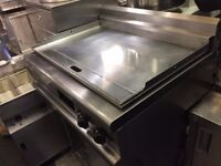 GAS CHROME FLAT GRILL LINCAT OPUS MODEL CATERING COMMERCIAL FAST FOOD KEBAB CAFE RESTAURANT BAR