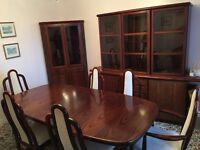 Beautiful Rosewood Complete Dining Set