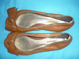 Dune Tan Flat shoes - size 6