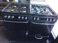 Black new home 100cm eight burners gas cooker grill & oven good condition with guarantee