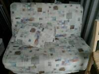 Futon / sofa bed double with sprung mattress