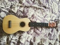 Soprano Ukulele w/ strap and hard case