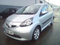 TOYOTA AYGO 1.0 LITRE, 08 REG 2008, £20 YEAR RD TAX, ONLY 47,000 MILES, 3 MONTHS WARRANTY