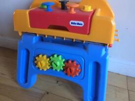 LITTE TIKES WORKBENCH WORK TOOL STATION HAMMER SPANNER SCREWDRIVER HANDIWORKER
