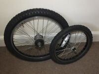 PAIR OF MK3 RALEIGH CHOPPER WHEELS (FRONT & REAR) COMPLETE
