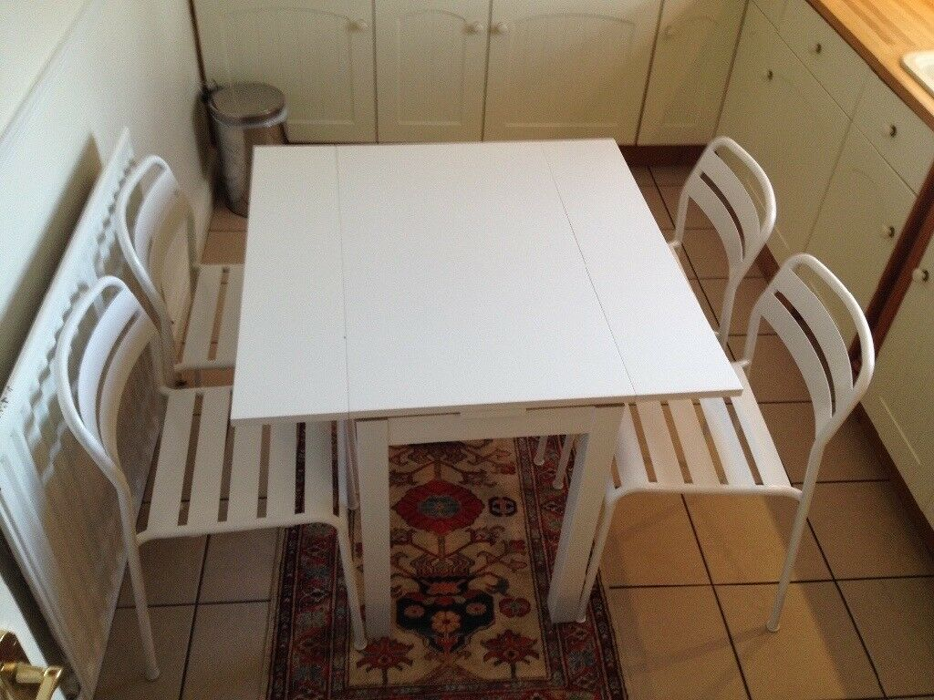 IKEA Kitchen Dining Table And 4 Chairs