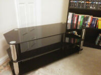Glass & Metal Television Stand