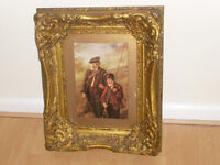ANTIQUE VERY ORNATE VICTORIAN WOOD FRAME WITH HEAVY GILT DECOR ,,BEAUTIFUL