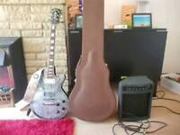 Electric Guitar + Gator Case + Amp