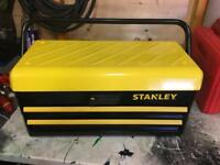 "Stanley 18"" metal toolbox"