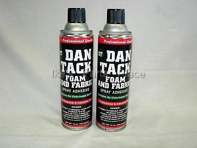 2- 10.2oz Cans Foamfabric Spray Glueadhesive Dan Tack