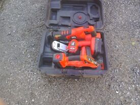 Black and Decker recip saw ,torch and saw. No charger.