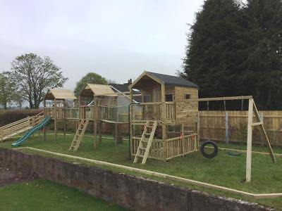 Lusty Beg Climbing Frame Outdoor Play Equipment WITH SWINGS