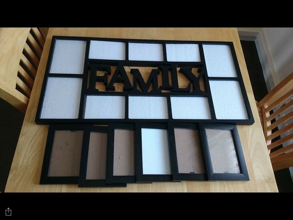 Family frame and 6 small frames