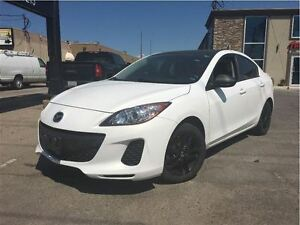 2012 Mazda MAZDA3 GX 16INCH SOLID BLACK GLOSSY ALLOYS WHEELS
