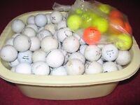 large bag mixed used golf balls