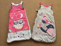 2x Baby Sleeping Bags: 12-18 months - £8