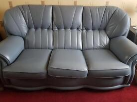 Handmade leather sofa